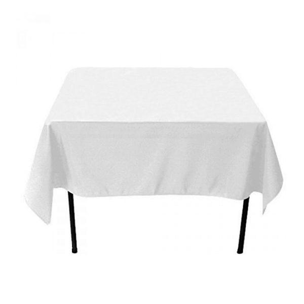 Nappe carrée blanche en tissu