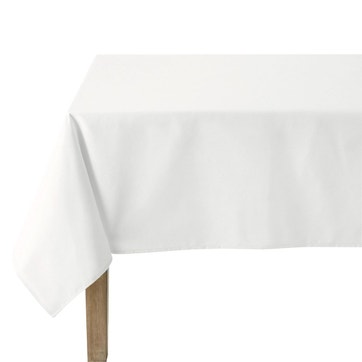 Nappe rectangle en tissu blanc